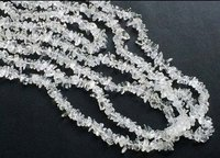 Crystal Uncut Chips Beads, Crystal Chips Beads, 36 Inches Long Strand