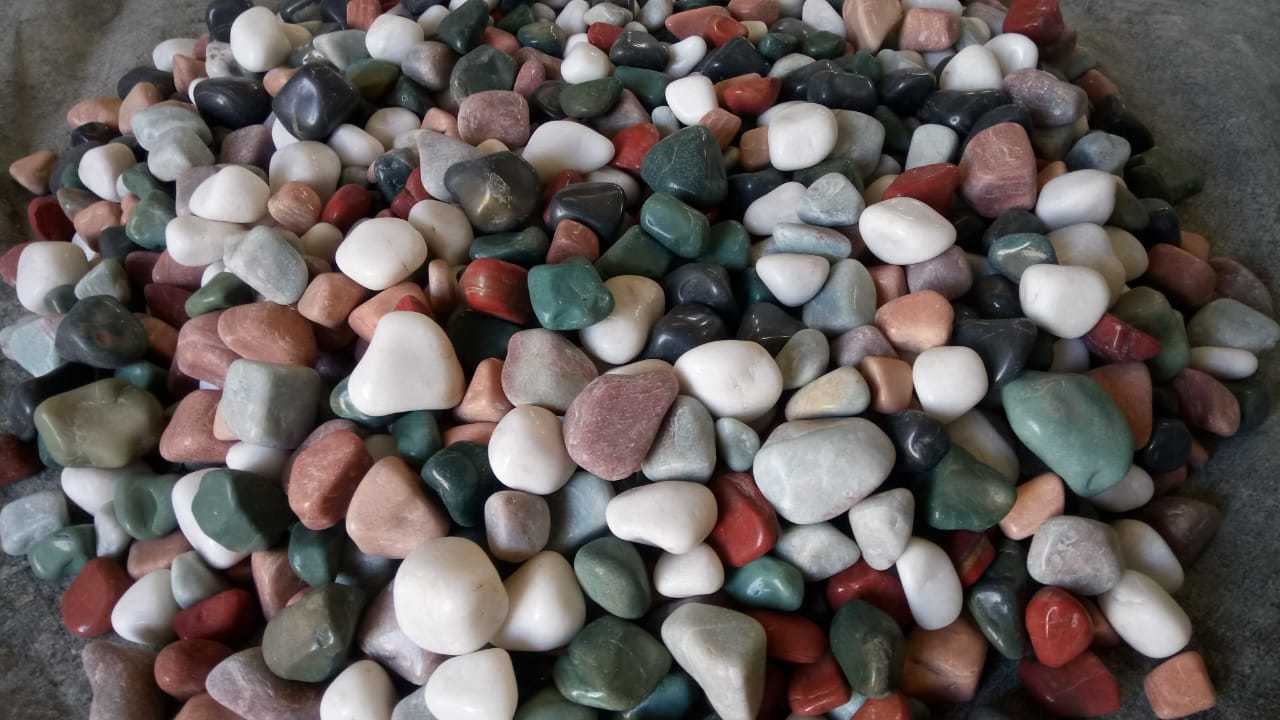 machine made Mix Pebbles agate stone for decoration