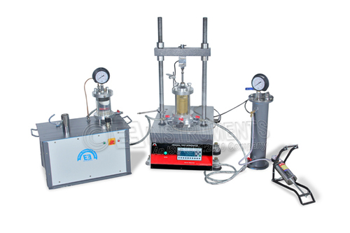 Digital Triaxial Shear Test Apparatus- For 38 mm Dia Specimen - For Cd Cc Cu Test