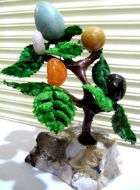 Harmonize Multi Healing Stone Tree Spritual Table Decor Office Gift 6-7 inches Long.