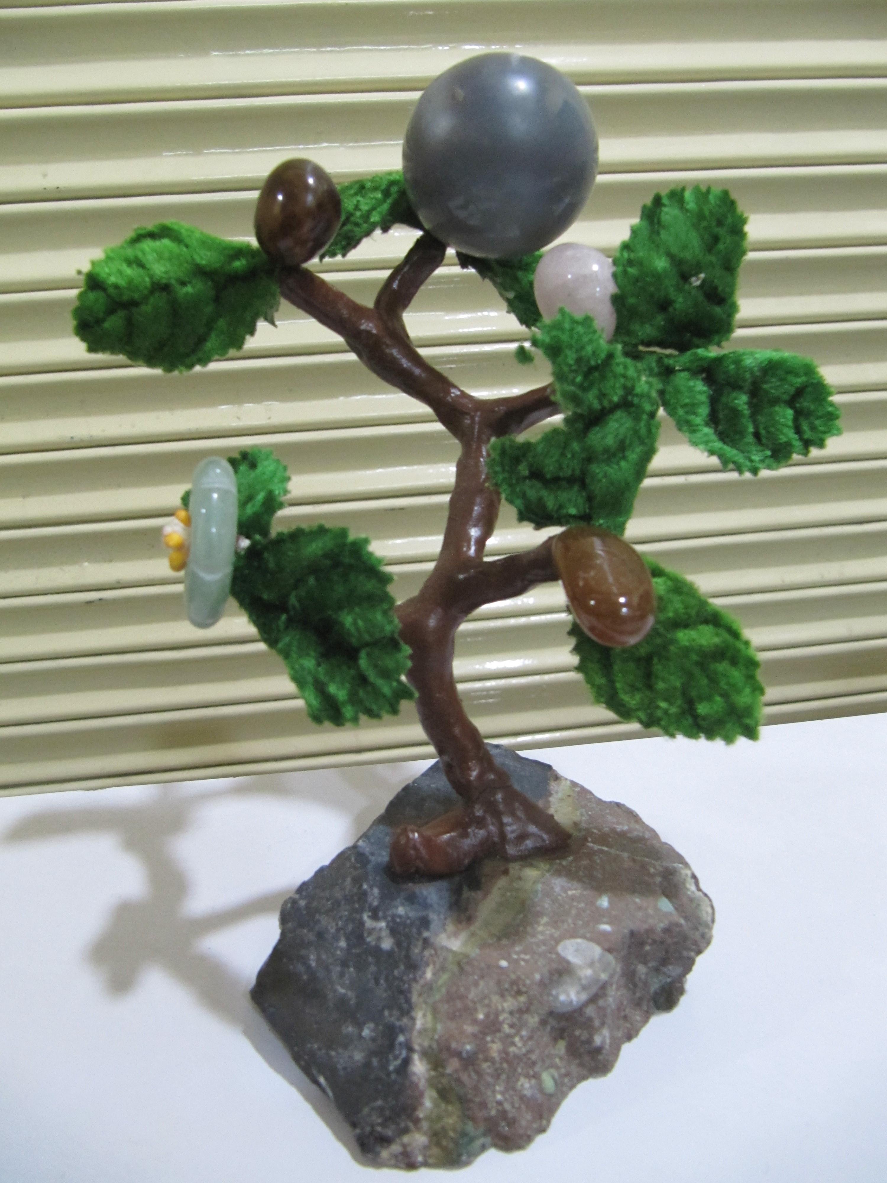Harmonize Multi Healing Stone Tree Spritual Table Decor Office Gift 6-7 inches Long.