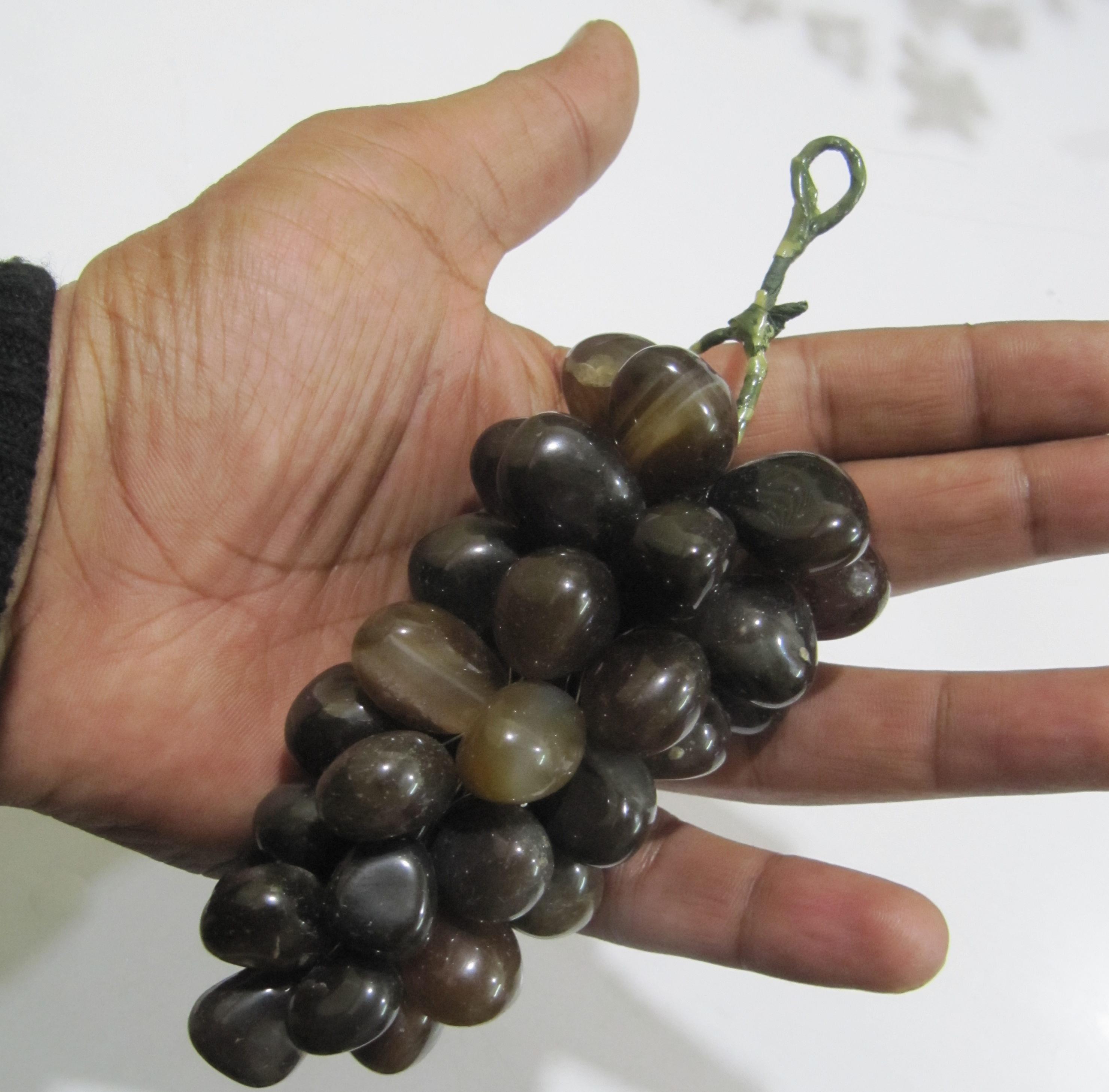 Natural Beer Quartz Stones Grapes Cluster Fruits