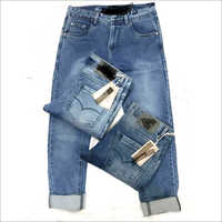 Men trendy look denim jeans