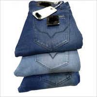 Men's denim knitted jeans