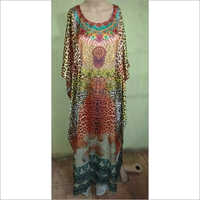 Digital polyester long kaftan
