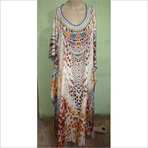 Poly Crepe digital kaftan