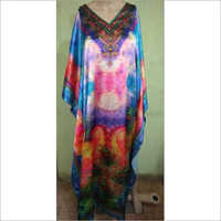 Satin digital printed kaftan