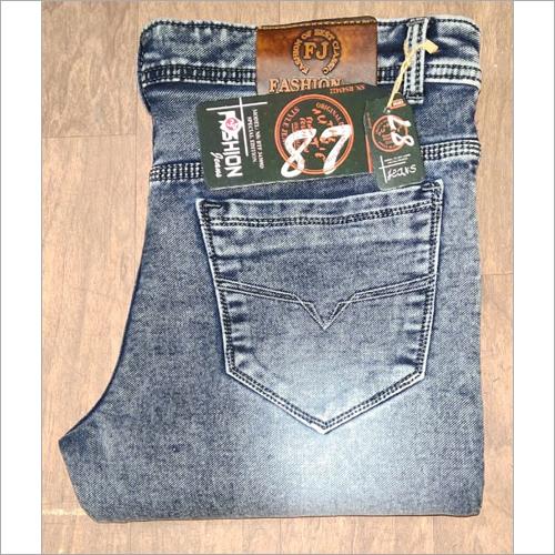 men denim nitted jeans