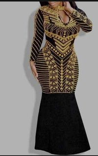 African female party wear dress