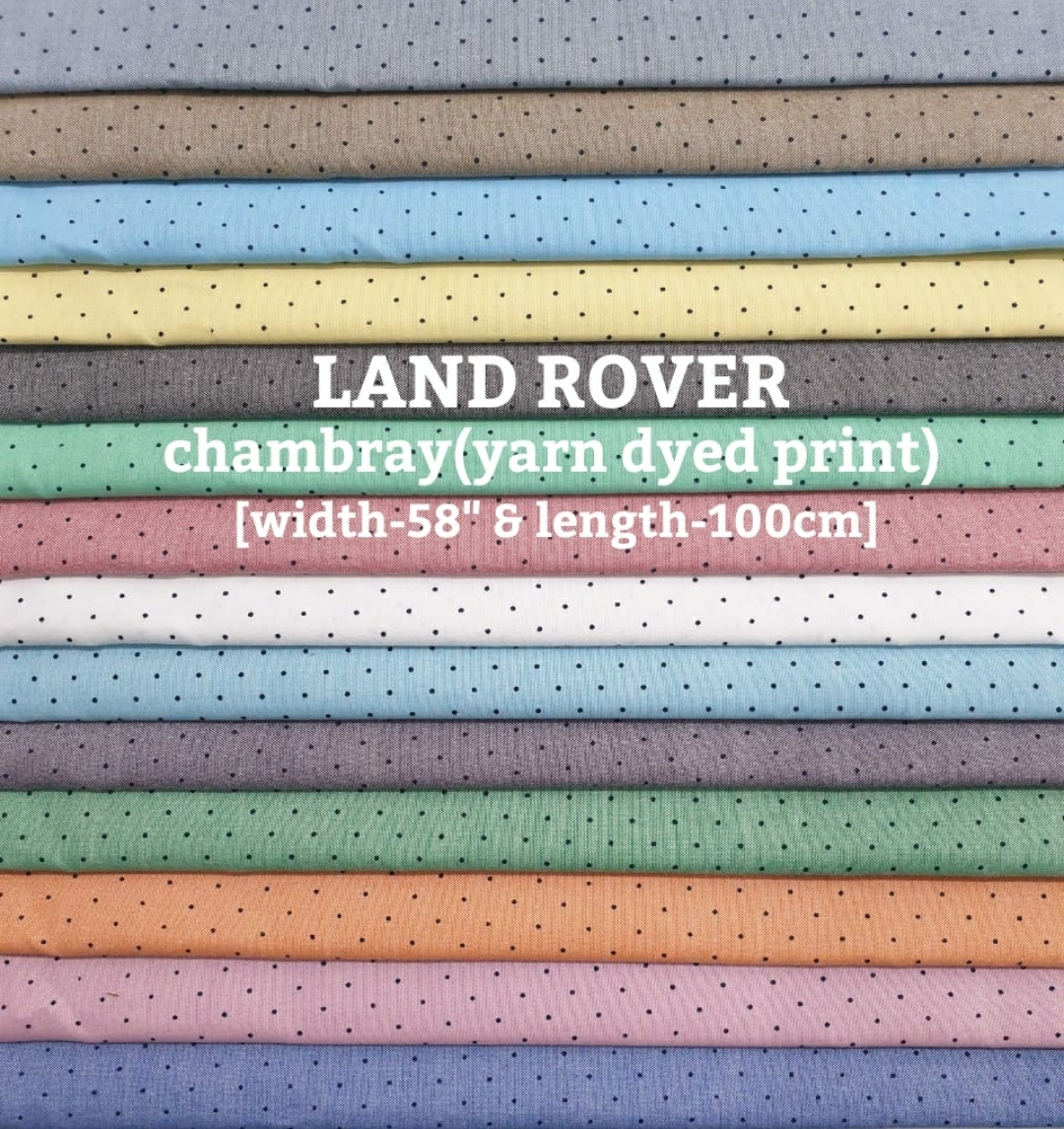 LAND ROVER chambray yarn dyed