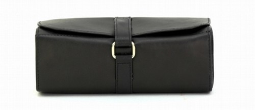 BLACK JEWELLERY ROLL BAG