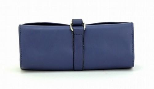 BLUE JEWELLERY ROLL BAG