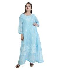 Cotton Double Layered Lucknowi Chikan Kurti