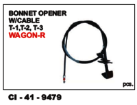Bonnet Opener W/Cable T-1, T-2, T-3 Wagon-R