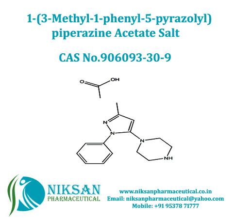 1-(3-Methyl-1-phenyl-5-pyrazolyl)piperazine acetate salt