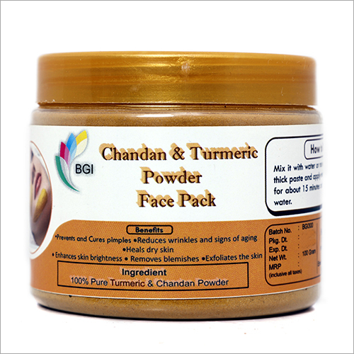 Chandan And Turmeric Powder Face Pack