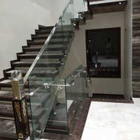 Glass Panel Stair Railing