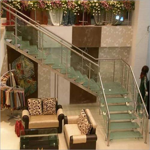 Designer Glass Stair Railing