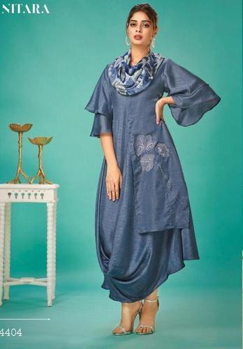 VARIETY OF Exclusive Fabrics Digital Print Daily Wear Stylish Kurti With Scarf