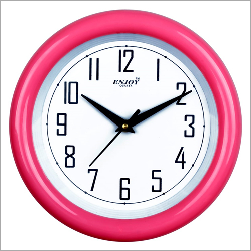 Pink Frame Wall Clock