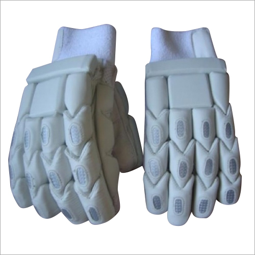 White Cricket Gloves