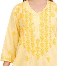 Khadi Cotton Lucknowi Chikan Kurti