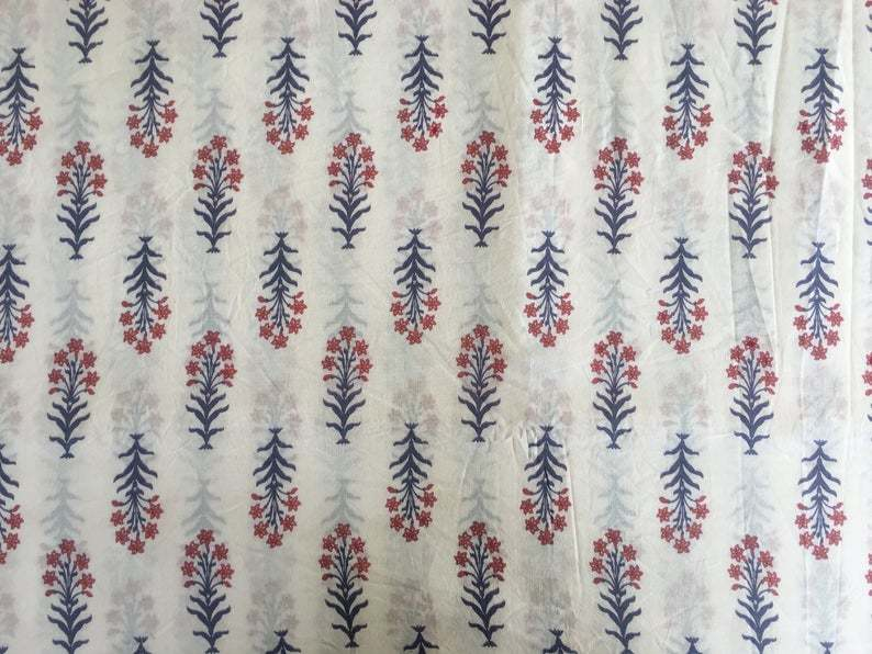 Block Printed Sewing Craft Fabric
