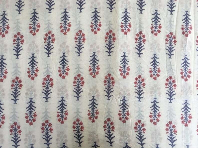 Block Printed Sewing Craft Fabric