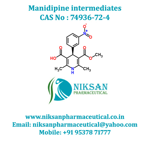 2, 6-Dimethyl-5-Methoxycarbonyl-4-(3-Nitrophenyl)-1,4-Dihydropyridine-3-Carboxylic acid