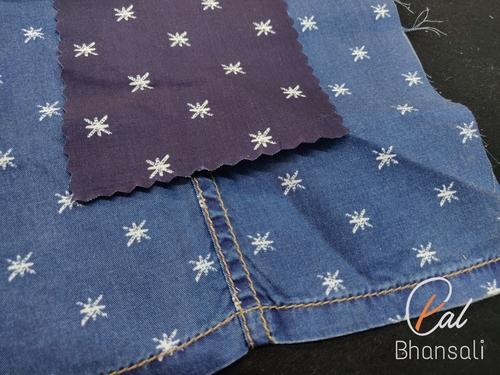 PAL by Bhansali Denim Printed Shirting Fabric