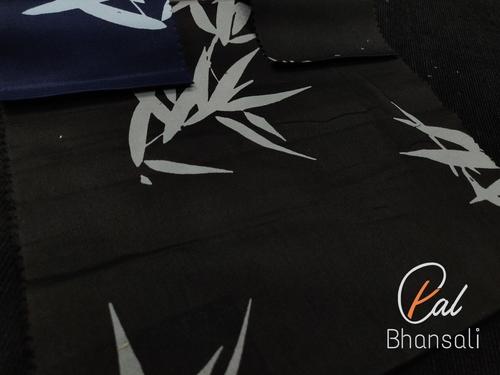 Leaf Printed Shirting Fabric