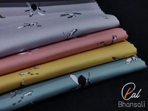 Twill Shirting Printed Fabric