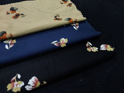 Discharge Floral Printed Fabric