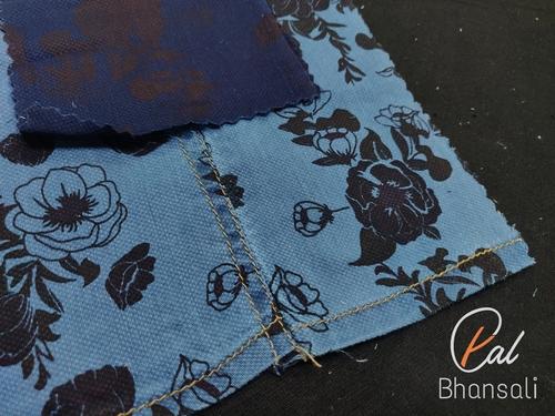 Denim Printed Fabric