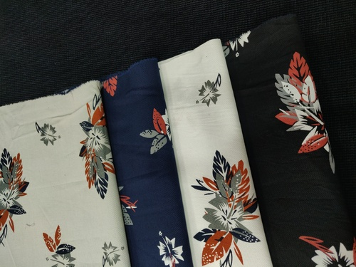 Floral Twill Printed Fabric