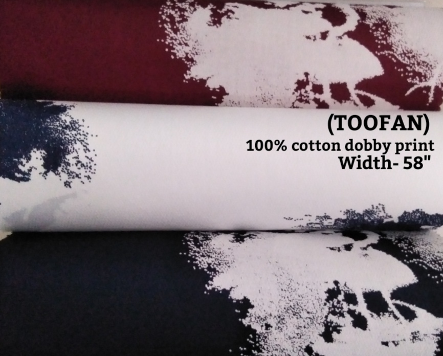 Toofan 100% cotton dobby print