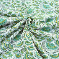 Floral Block Printed 100% Cotton Fabric
