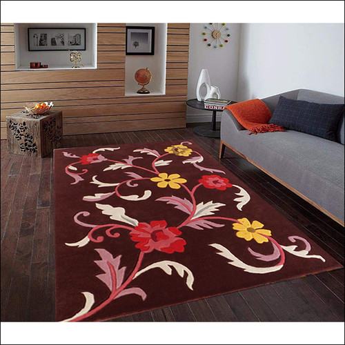 Tufted Maroon Carpet