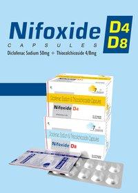 Diclofenac Sodium 50mg + Thiocolchicoside 8mg