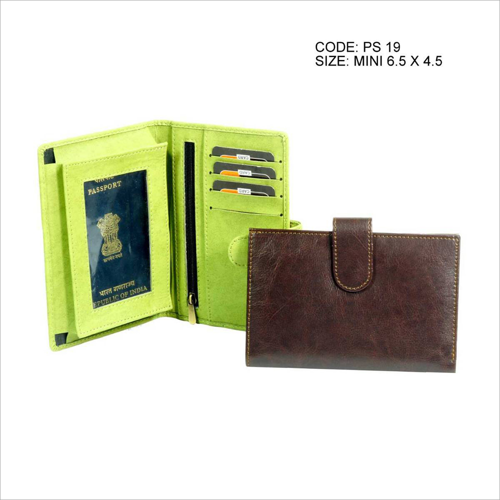 Plain PU Leather Mini Passport Holder