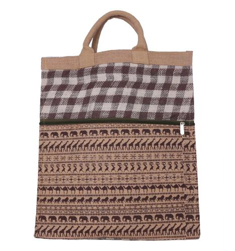 Animal Print Jute Shopping Bag