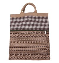 Animal Print Jute Shopping Bag