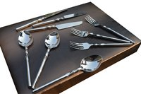 Handicrafts Cutlery Set For Dining / Cutlery spoon set of 24 Piece With Wooden Gift Box