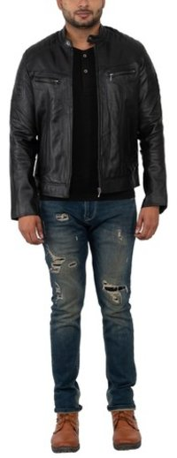 MEN'S BIKER JKT BLACK