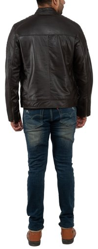 MEN'S BIKER JKT BROWN