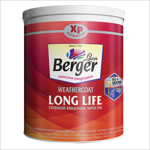 Long Life Exterior Emulsion With Pu Weathercoat Certifications: Green Pro Certificates