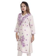 Cotton Lucknowi Chikankari Kurti