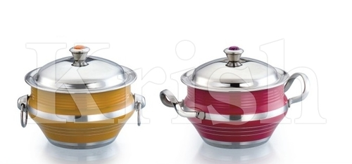 Colored Soup Toureen Dish With Cover