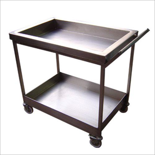 Stainless Steel 2 Tier Kitchen Trolley