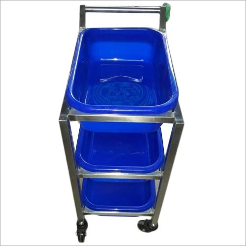 Stainless Steel Plate Pickup Trolley